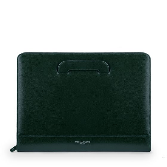 Document-Folio-With-Sliding-Handles-Racing-Green-Grain-Front-Base
