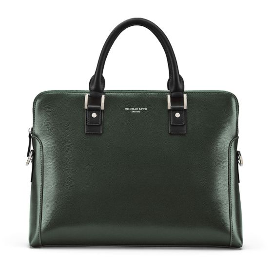 Burlington-Business-Bag-Grained-Leather-Racing-Green-Base