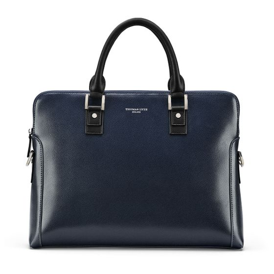 Burlington-Business-Bag-Grained-Leather-Petrol-Base-2
