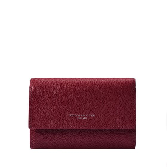 Small-Ladies-Purse-Grained-Burgundy-Front-Base