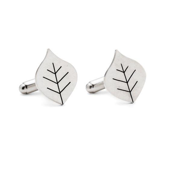 Diana-Greenwood-Beech-Leaf-Cufflinks