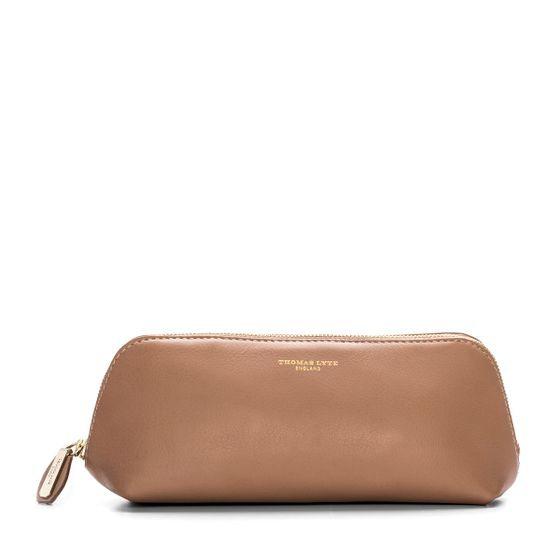 Beige-Cosmetics-Pencil-Case-Front-Base