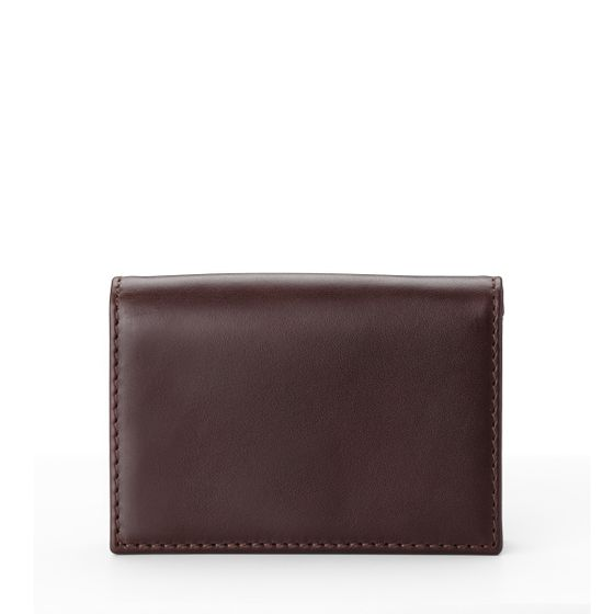 Folding-Card-Wallet-Bridle-Leather-Chocolate-Front-Base